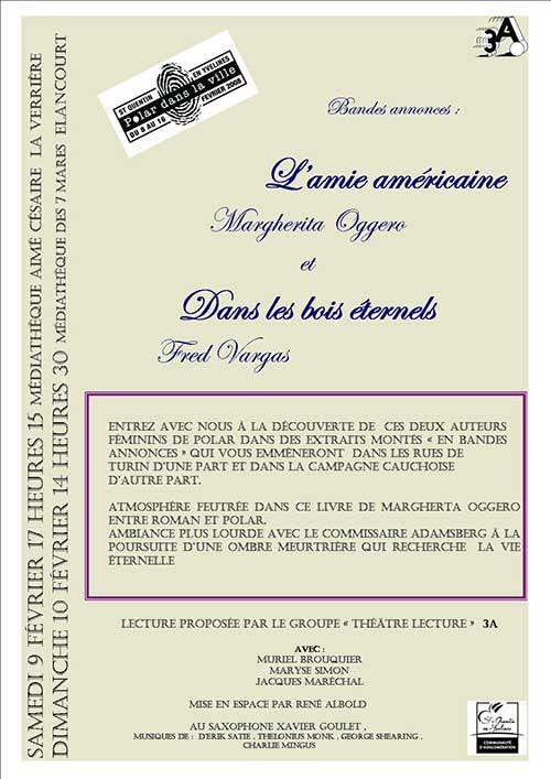 Lecture théâtrale de 3A - Festival du polar de St Quentin en Yvelines