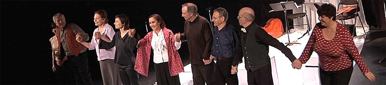 Le salut de Contes en Bande - Fin du spectacle de T'aime et variations
