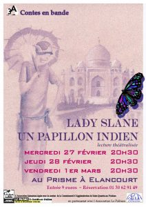 Affiche: Lady Slane, un papillon indien - Adaptation du roman de Vita Sackville-West