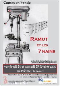 Affiche de Ramut et les 7 nains - Lecture théâtralisée tirée de La Brigade du rire