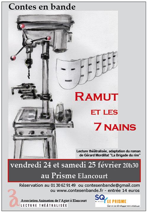 Affiche - lecture théâtralisée de Contes en Bande - Ramut et les 7 nains