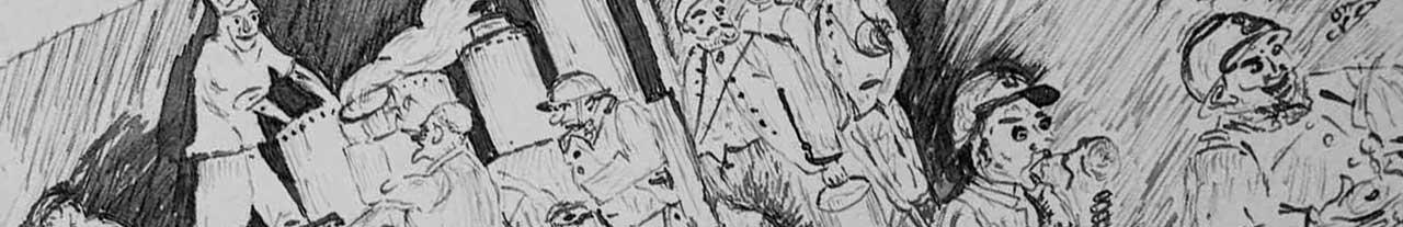 """Bandeau illustrant """" Ils ont écrit la Guerre """" Spectacle lecture de Contes en Bande"""