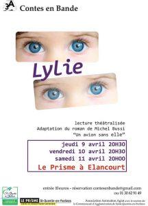 Affiche de la lecture théâtralisée Lylie de Contes en Bande