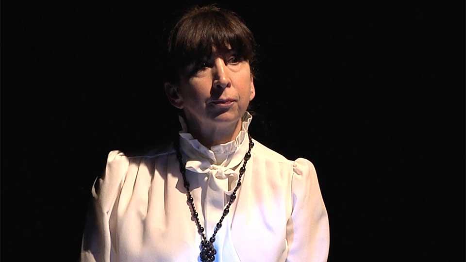 Rosine Damais, lectrcie de Contes en Bande, spectacle de Lady Slane