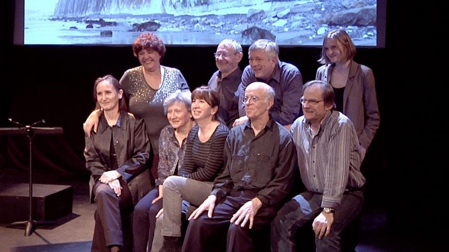 Troupe de lecteurs Contes en Bande lors du spectacle de Lylie à Elancourt