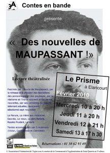 Affiche du spectacle de lecture sur les nouvelle Maupassant