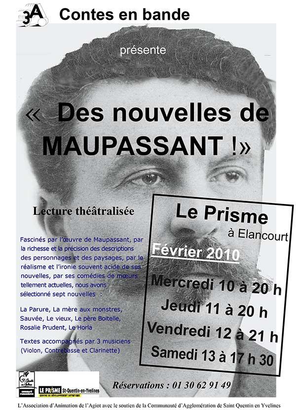 Spectacle de lecture Des nouvelles de Maupassant ! de Contes en Bande