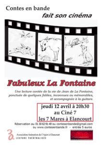 Affiche Fabuleux La Fontaine Contes en Bande 2018 Illustrations Daniel Simon